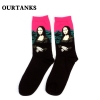 color 17fashion famous painting art printing socks cotton socks men socks women socks