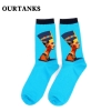 color 18fashion famous painting art printing socks cotton socks men socks women socks