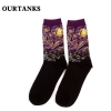 color 19fashion famous painting art printing socks cotton socks men socks women socks