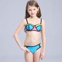 candy patchwork teen girl bikini swimwear