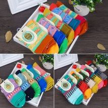 fashion pattern print bulky Jacquard women socks
