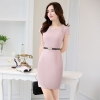 pink dressAsian design thin summer formal office dress for work