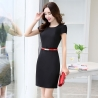 black dressAsian design thin summer formal office dress for work