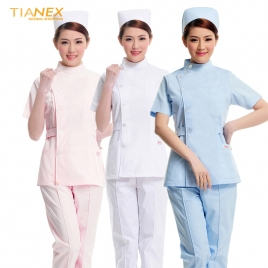fashion elegant summer short sleeve women nurse uniform coat JF-19