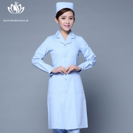 2017 autumn women nurse coat jacket lab coat