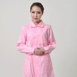 long sleeve peter pan collar nurse coat uniform