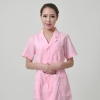 notch lapel collar front opening nurse coat