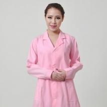 long sleeve notch lapel collar nurse coat uniform