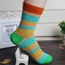 Casual fashion pattern print design winter socks sokcs