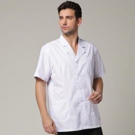 Europe America short design men doctor blouse nurse coat