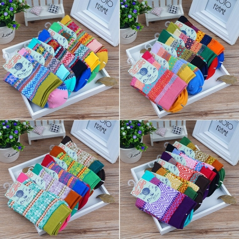 bulk comfortable breathe geometric religious pattern women socks