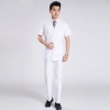 whitesummer front opening male nurse suits uniforms
