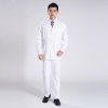 white coat and trousersclassic front opening  men nurse doctor uniform suits ( jacket and tousers)