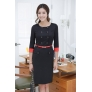 Korea design double breasted work dress for office women