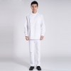 white suitsside open two piece nurse doctor suits (coat + pant)
