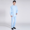 light blue suitsside open two piece nurse doctor suits (coat + pant)