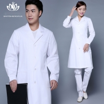 winter high quality long sleeve front opening nurse doctor coat uniform