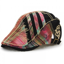 fashion patchwork outdoor tour hat cap