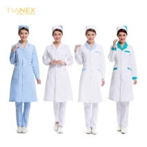 fashion new medical hairdressing long sleeve workwear coat uniform