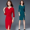 formal split business office work uniform dress