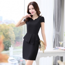 Korea design formal office lady work dress desk service lady