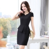 black dressKorea design formal office lady work dress desk service lady