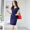 navy dressKorea design formal office lady work dress desk service lady