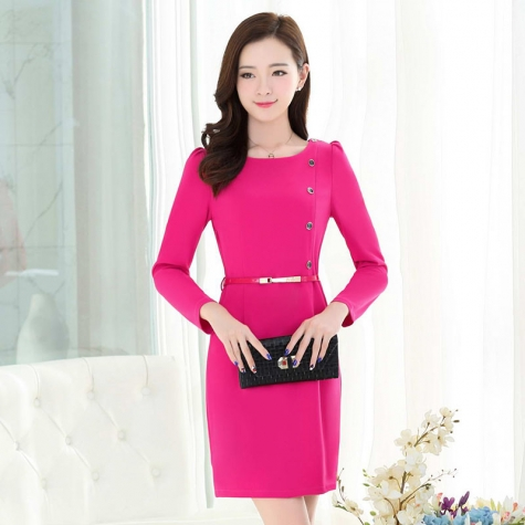 fashion sweaty long sleeve women dress for work