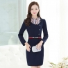 navyfashion sweaty long sleeve women dress for work