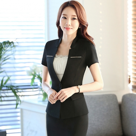 good fabric fashion design women office clerk work suit