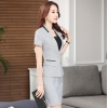 Light Graygood fabric fashion design women office clerk work suit