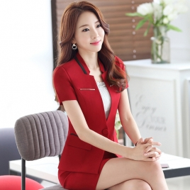 fashion design women office clerk work suit staff uniform