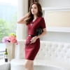 wine dressfashion grace formal stripes office work  dress