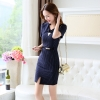 navy dressfashion grace formal stripes office work  dress
