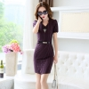 purplefashion grace formal stripes office work  dress