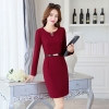 winelong sleeve high quality office work  dress uniform