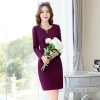 purplelong sleeve high quality office work  dress uniform