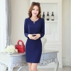 navyautumn new design Korea office work  dress