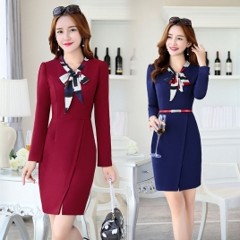 fashion design long sleeve business wear dress