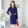 navy dressnew arrival autumn design women long sleeve work dress BLKE 1635