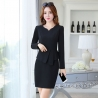 black work dressfashion knitted women formal work dress