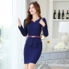 navy work dressfashion knitted women formal work dress