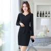 black work dresshot sale long sleeve black work dress career women dress