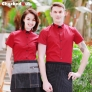 summer restaurant wing up  collar waiting staff shirt uniforms