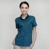 short sleeve black waitress shirtsummer button down collar serving staff shirt fast food waiter uniforms