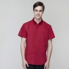 short sleeve red waiter shirtsummer button down collar serving staff shirt fast food waiter uniforms