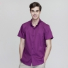 short sleeve purple waiter shirt