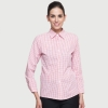 women pink shirtgrid printing fast food waiter shirts cafe bar KVT KTC uniforms
