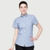 women light blue stripesstripes printing wait staff store clerk shirt uniform