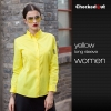 women yellow shirtfashion restaurants coffee bar waiter waitress shirt workswear